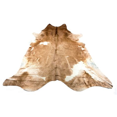 Cowhide Rugs Sydney - caramel white cowhide rug temple webster