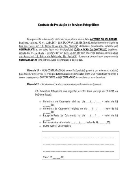 contrato de prestacao de servicos fotograficos pelo