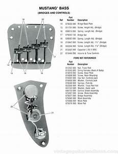 Fender Mustang Bass Part List 1976