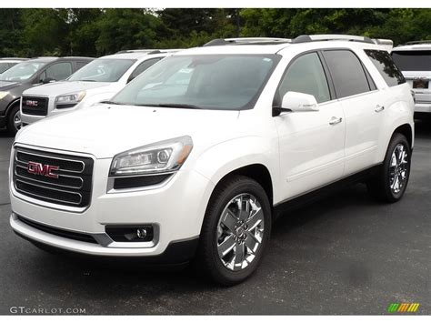 white frost tricoat gmc acadia limited awd