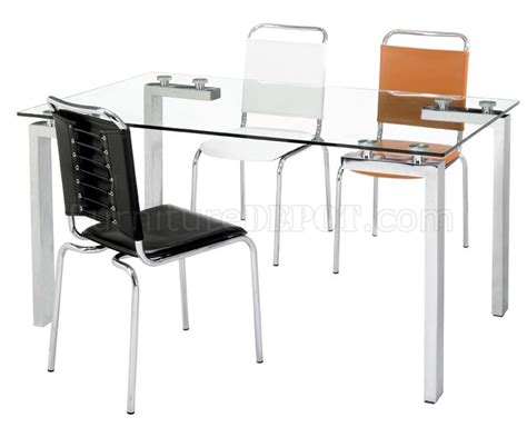 glass desk metal legs clear glass top dining table with chromed steel legs