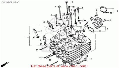 honda nx650 dominator 1989 k usa cylinder schematic partsfiche