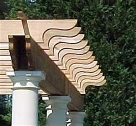 pergola rafter tail template corbel pattern pictures