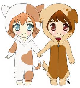Cute Anime Cats and Dogs