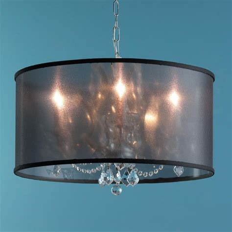 modern organza shade chandelier 3 colors l