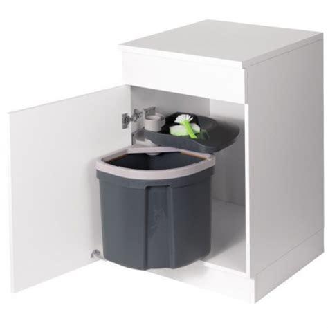 poubelle cuisine porte poubelle flexx 1 bac 35l gris