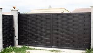 Portail Fer Forgé Plein : portail en fer forg moderne fh34 jornalagora ~ Dailycaller-alerts.com Idées de Décoration