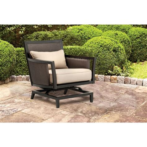 brown greystone patio motion lounge chair in