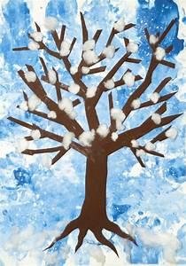 Basteln Winter Kindergarten : kinder malen und basteln winterbaum ~ Eleganceandgraceweddings.com Haus und Dekorationen