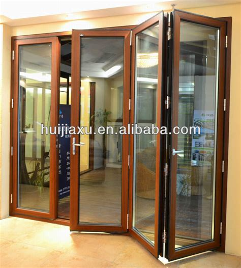 folding door panel with outward and inward opening big