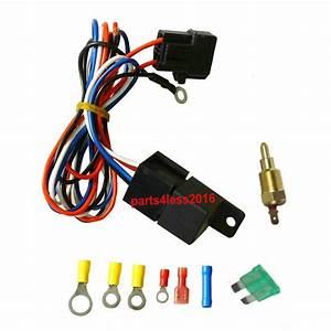Universal 30 Amp Cooling Relay Wiring Kit  U0026temperature
