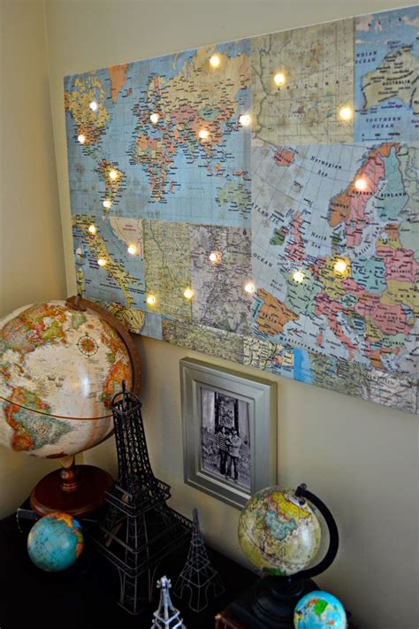 Hazel And Ruby Blog Diy World Map With Lights New