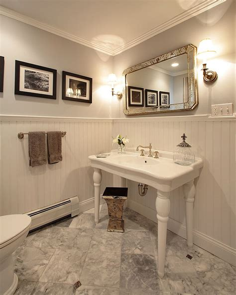 always trend 20 powder rooms in black and white