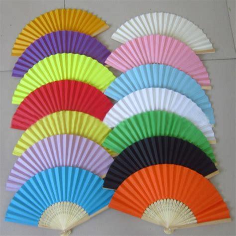 paper hand fans bulk summer chinese hand paper fans pocket folding bamboo fan