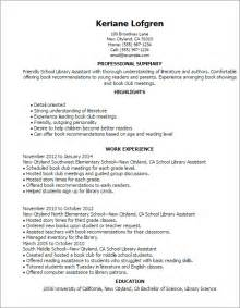 library assistant resume sles professional school library assistant templates to showcase your talent myperfectresume