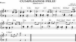 CUMPLEAÑOS FELIZ ARREGLO 1 (Piano, partitura) YouTube