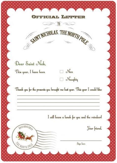 christmas freebie letters  santa  printables