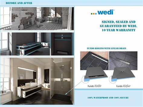 wedi shower system ta distributor gulf tile cabinetry
