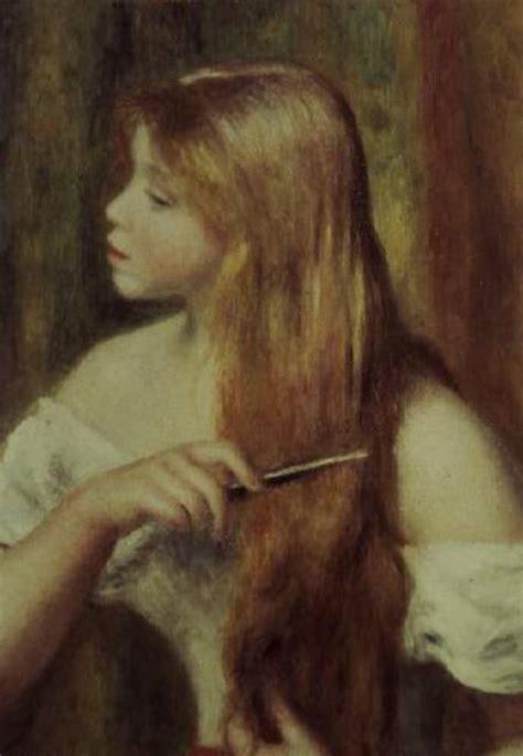 Blonde Girl Combing Her Hair Pierre Auguste Renoir As