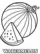 Watermelon Coloring Pages Printable Slice Drawing Melon Water Fruits Fruit Fresh Worksheets Kidsplaycolor Colouring Sheets Vegetable Bestcoloringpagesforkids Preschool Summer Line sketch template