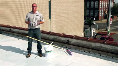 How To Apply 501 Elasto-brite White Roof Coating Over Epdm Skyline Roofing Contractors Standing Seam Roof Details Cleaning Houston Advanced Team Copper Supplies Metal Cost Vs Shingles Red Flushing
