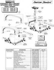 kitchen sink faucet parts diagram plumbingwarehouse american standard repair parts for