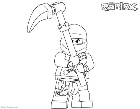 roblox ninjago cole coloring pages  printable