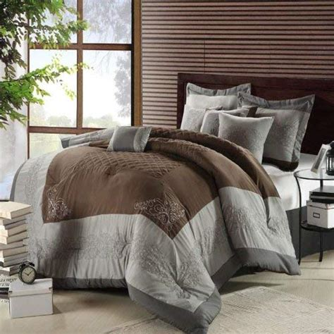 grey and brown comforter sets grey and brown bedding