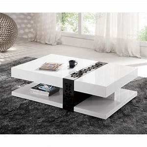 table basse design laque galina blanc achat vente With table basse soldes design