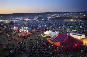 Glastonbury Music Festival Aerial View
