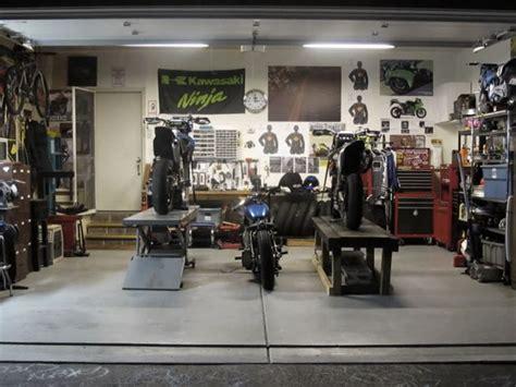 clean garage motorcycle garage
