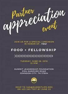 Appreciation Party Invitation Wording Partner Appreciation Event Summit Leadership