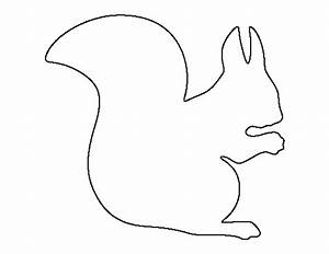 Squirrel pattern. Use the printable outline for crafts ...