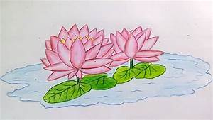 Learn how to draw Water Lily step by step | National ...