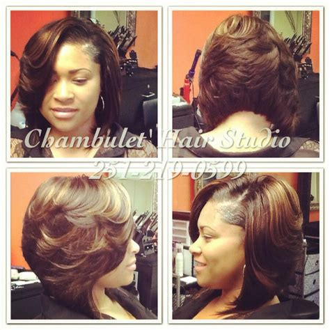 Layered Sew In Weave Hairstyles by Sew In Bob Hair Salon