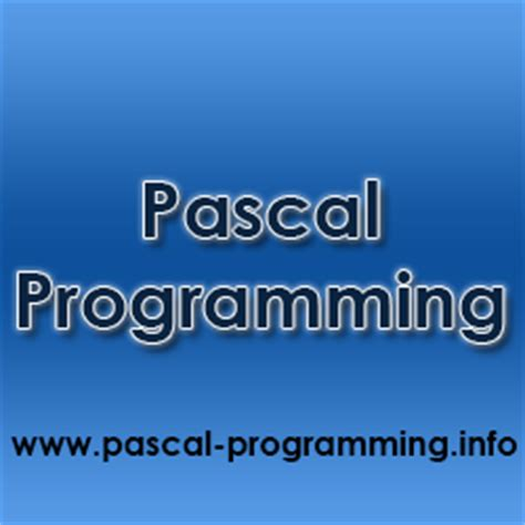 pascal programming advanced programming concepts