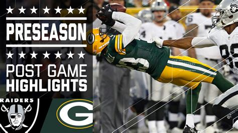 raiders  packers game highlights nfl youtube