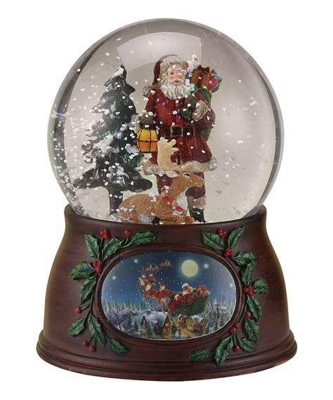 roman musical santa deer musical snow globe navidad