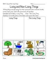 living and nonliving things worksheets link does not