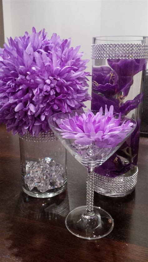 diy purple and silver wedding decorations diy pink and orange wedding centerpieces flowers in 2019