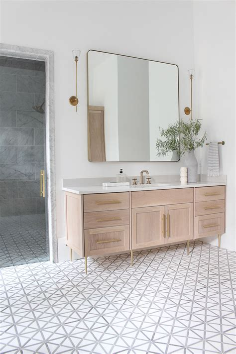 forest modern modern vintage master bathroom reveal