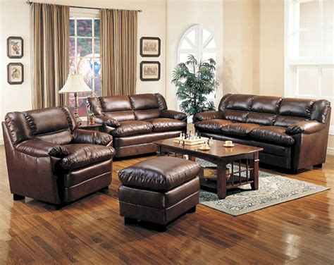 Brown Leather Living Room Sofa Sets Brown Leather Living