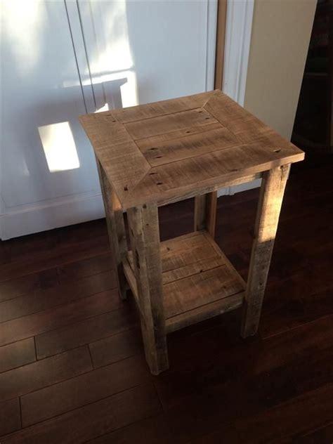 diy pallet wood  table  nightstand pallet