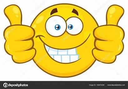 Smiley Face Daumen Oben Nach Gesicht Stockillustration