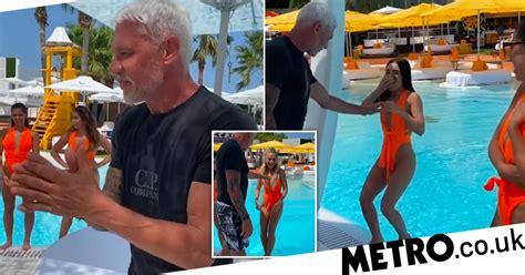 Wayne Lineker pushes employees into pool while choosing ...