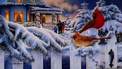 Christmas Desktop Background Scene Backgrounds Wallpapers Card