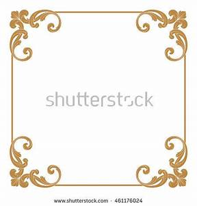 Premium Gold Vintage Baroque Ornament Frame Stock Vector ...