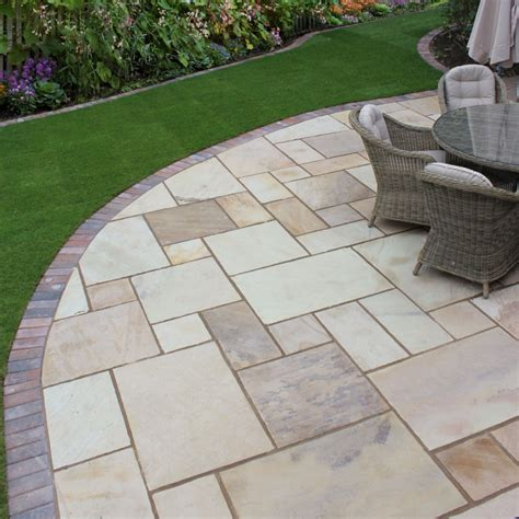 paving classicstone golden fossil mint paving slabs