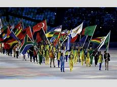 Some countries needed volunteer flag bearers at the