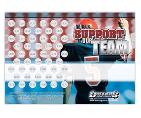 custom football fundraising cards football fundraising